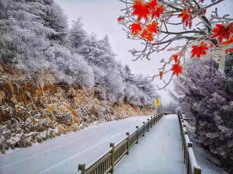 """白石山第二届""""空中冰雪"""