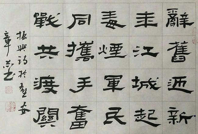 【同心抗疫】杨章锁书法
